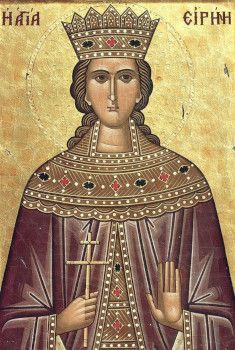 The holy Great Martyr Irene was born in the city of Magedon in Persia during the fourth century. She was the daughter of the pagan king Licinius, and her parents named her Penelope. Penelope was very beautiful, and her father… Christian Virtues, Early Christian, Byzantine Art, Byzantine Icons, Religious Paintings, Religious Art, Pagan Gods, Catholic Saints, Orthodox Icons
