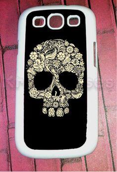 Samsung Galaxy S3 Case Floral Skull Samsung Galaxy S3 by KrezyCase, $14.95
