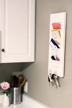 Shutter Mail Holder/ Key Holder Perfect For The Kitchen
