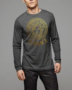 Versace men  long Sleeved top tshirt shirt size S M L XL Screen Printing by Melissa2012us on Etsy, $19.99