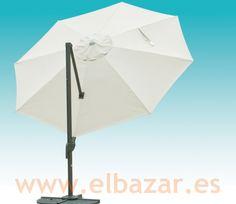 Sombrilla/parasol crudo 3,5m diám. Pié lateral 360