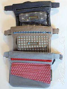 20 Free Sewing Patterns with Bunnies! Sewing Hacks, Sewing Tutorials, Ceinture Louis Vuitton, Tote Bags, Belt Bags, Diy Sac, Wallet Tutorial, Hip Bag, Love Sewing