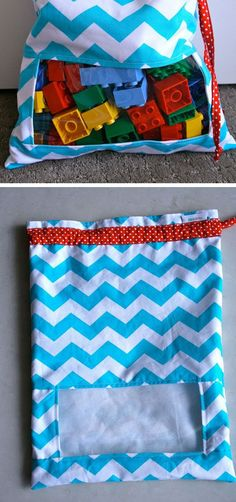 'Peek-A-Boo' Toy Sacks Tutorial | 32 DIY Storage Ideas for Small Spaces | DIY Organization Ideas for Small Spaces