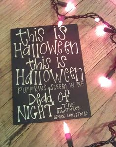 This is Halloween The nightmare before Christmas quote card. $2.75, via Etsy.