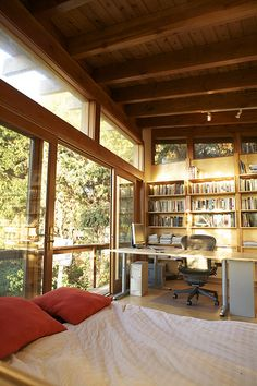 Urban Cabin - Home Office by Jeremy Levine Design