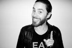 Jared Leto, glowing, at The Chateau Marmont