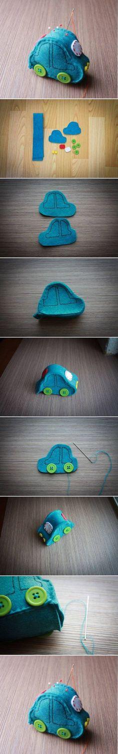 DIY Cute Car Pincushion DIY Projects