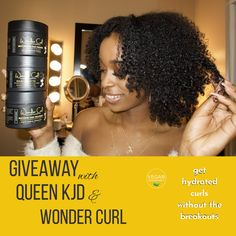 Giveaway alert! Enter to win @Queenkjd's favorite Wonder Curl products: #RestoringHairTreatment, #MoisturizingHairPudding & #SealingHairButter. Get hydrated #curls that last for days!