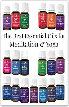 Enhance your practice with these essential oils for meditation and yoga! These are great for moms looking for a few moments of zen in your busy day.