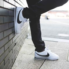 info for 7afd4 93a27 One of our favourite silhouettes this season, the Nike Cortez Leather  Trainer in White