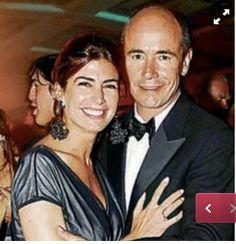 Con su ex esposo,Conde de Barbier