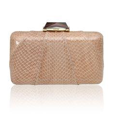 KOTUR Clutch, Minaudiere & now Shoes Espey Elaphe Handbag Sand Color