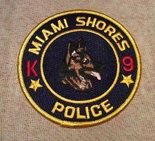 Miami Shores Florida K9 Police Patch