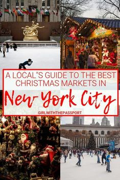 Christmas Markets in New York City - Girl With The Passport - Looking for a Christmas Markets holiday break in New York City? Then check out this local's guide - Best Christmas Markets, Holiday Market, Christmas Travel, Holiday Travel, Holiday Break, Christmas Trips, Winter Travel Packing, Holiday Trip, Christmas Vacation