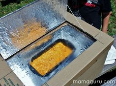 DIY Solar Oven Cooking Mac and Cheese