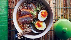 Shio ramen s vepřovým bůčkem Shio Ramen, Pho, Tofu, Beef, Ethnic Recipes, Ox, Steak
