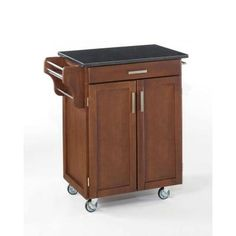 Create-a-Cart in Cherry with Black Granite Top