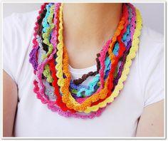 Manga por Hombro: Collares de crochet