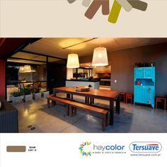 Más opciones con diferentes y novedosos usos del color marrón en www.tersuave.com.ar.  Habitaciones, Casas, Oficinas, Exteriores, Interiores, Muebles, etc. Todo podés renovarlo con Tersuave.