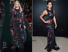 Nina Dobrev In Elie Saab - Bulgari Cocktail Event - Red Carpet Fashion Awards