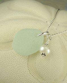 GENUINE Sea Glass Jewelry Aqua With Wire by seaglassgems4you, $26.00