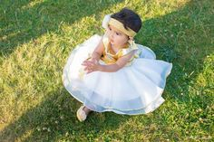 Gold Top Girl Birthday Party DressPD013-1 by PLdress on Etsy