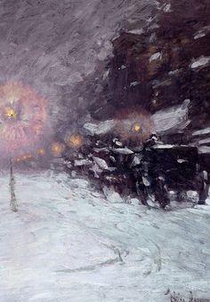 "snaakks: ""Frederick Childe Hassam, Winter Midnight, 1894 """