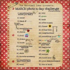 March Photo a Day Challenge (Maternal Lens) *1. something that makes you smile