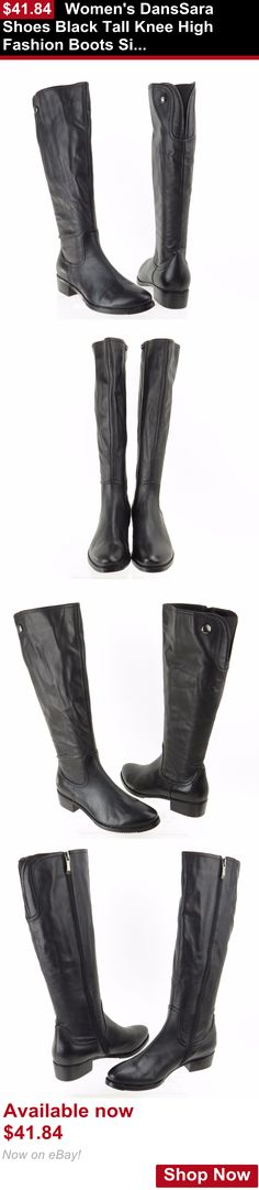 Women shoes: Womens Danssara Shoes Black Tall Knee High Fashion Boots Size 11 M New! BUY IT NOW ONLY: $41.84