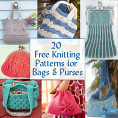Free Knitting Patterns for Bags, Purses, and Totes at http://intheloopknitting.com/bag-purse-and-tote-free-knitting-patterns/