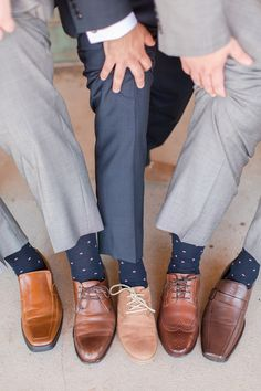 Navy & blush Groomsmen printed socks