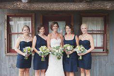 beautiful mix match navy blue bridesmaid dresses