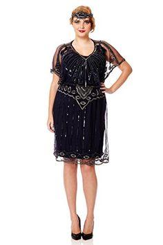 Vintage flapper dress plus size