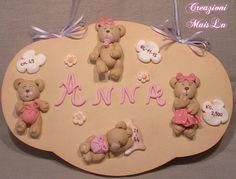 Targhetta nascita orsetti (Paste polimeriche)