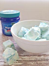 Homemade Vapor Rub Shower Cubes : DIY Home Remedy