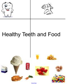 Healthy Food Choices For Teeth Smartboard Activity
