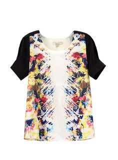 Lily 2013 Summer  New Arrival   Short Sleeve   Print Chiffon Women Shirt from Picsity.com