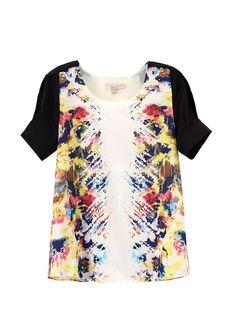 Lily 2013 Summer  New Arrival   Short Sleeve   Print Chiffon Women Shirt from Picsity.com
