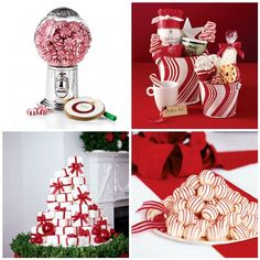 Candy cane desserts and decor for Christmas