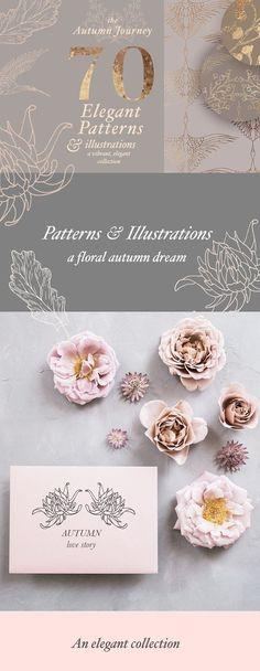 Autumn Patterns & Illustrations  by Laras Wonderland on @creativemarket