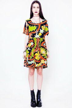Java Lava Tropicalia Babydoll Dress - XS/S