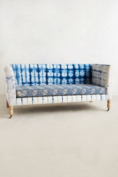love this monochromatic patterned couch - playful but not ridiculous