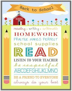 The Jacobs Clan: Back to School Printables