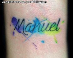 Foto tatuaje Manuel, Nombres, Letras