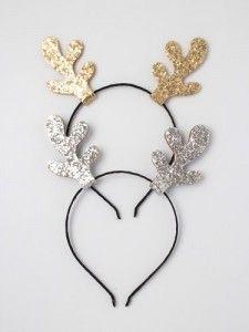 CHRISTMAS TREE RUDOLPH GLITTER HEADBAND FANCY DRESS PARTY HAT HEAD BOPPER