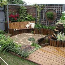Cheap patio ideas - Whether a small invites to the patio or repels depends on the creative way it is designed. How to decorate your patio Small Gardens, Outdoor Gardens, Outdoor Rooms, Outdoor Decor, Garden Spaces, Garden Inspiration, Backyard Landscaping, Beautiful Gardens, Garden Design