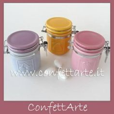 Barattolini  in ceramica portaspezie