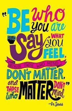 Be You - Dr. Seuss