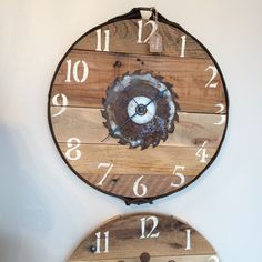 A personal favorite from my Etsy shop https://www.etsy.com/listing/257080290/16-leather-horse-tack-pallet-clock