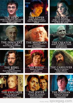 The 12 Common Archetypes - Harry Potter